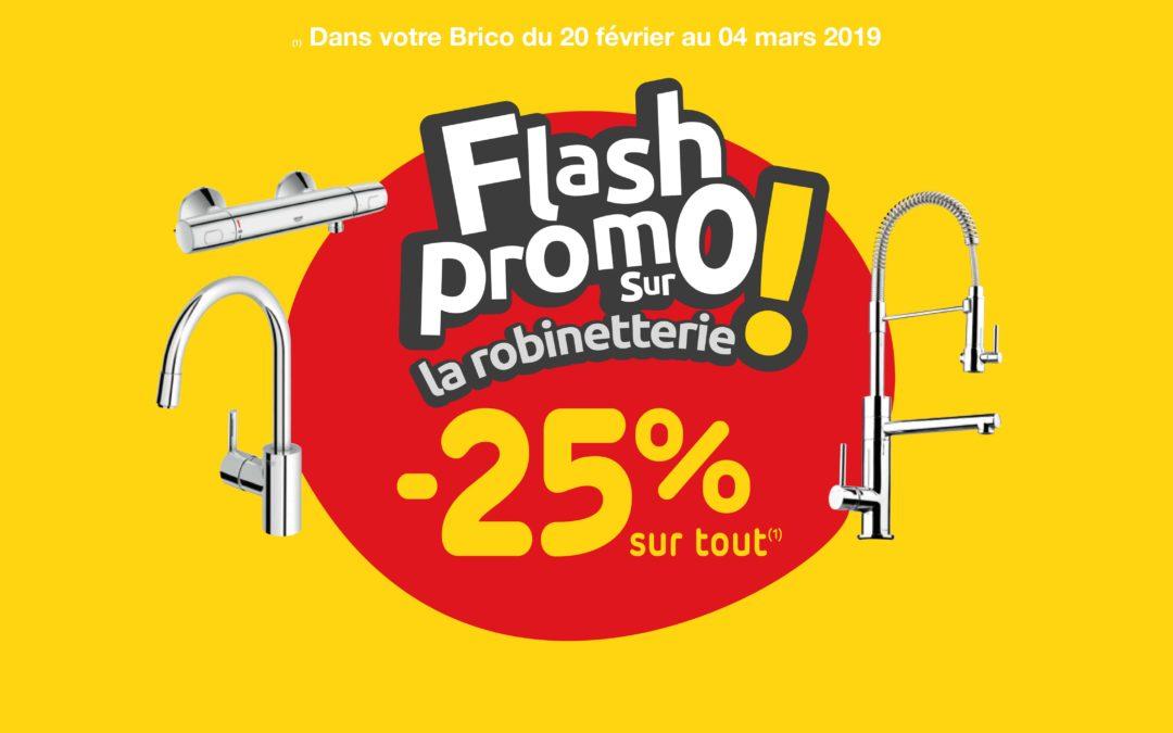 Flash promo sur la robinetterie
