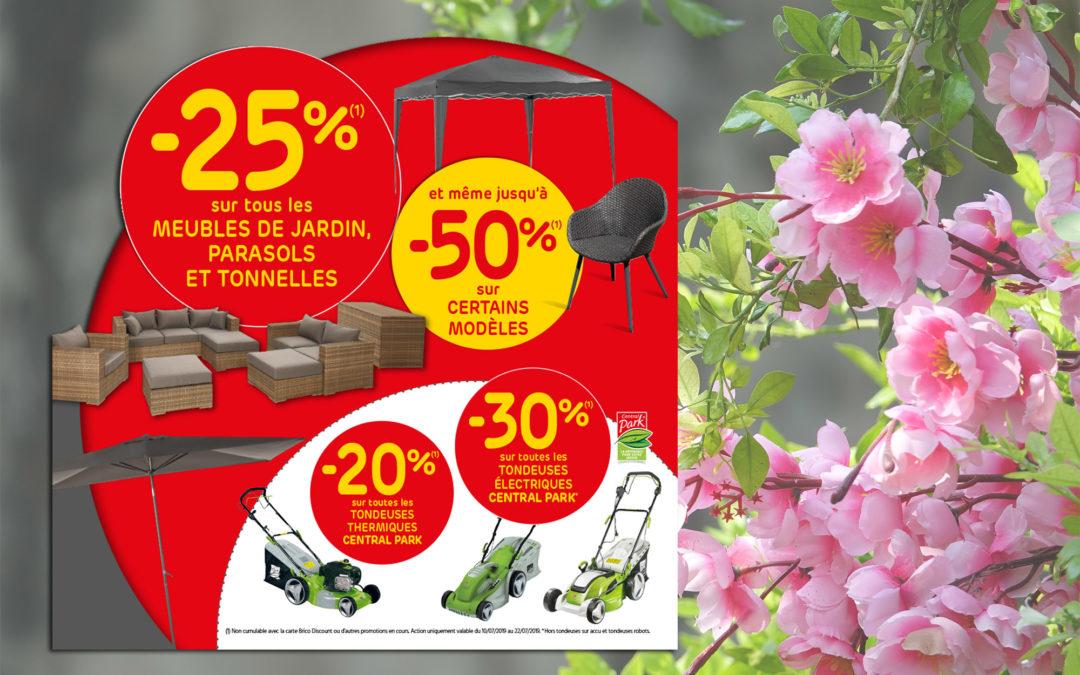 Profitez de -25 % sur tous les meubles de jardin