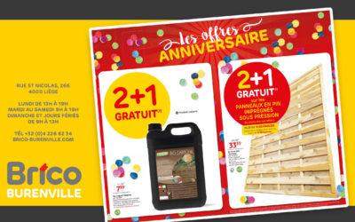 Les offres anniversaire : 2+1 gratuit*