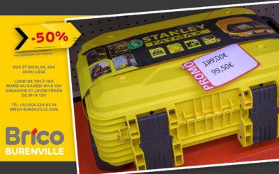 Promo -50% sur cet outillage Stanley*