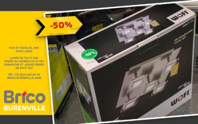 Promo -50% sur le plafonnier Wofi*