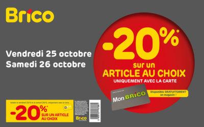 -20% sur un article au choix* avec la carte Mon Brico