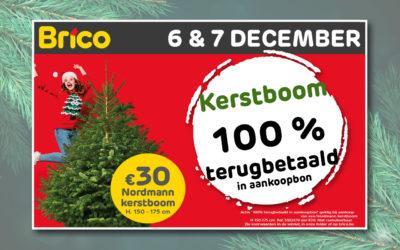 Kerstboom 100% terugbetaald in aankoopbon