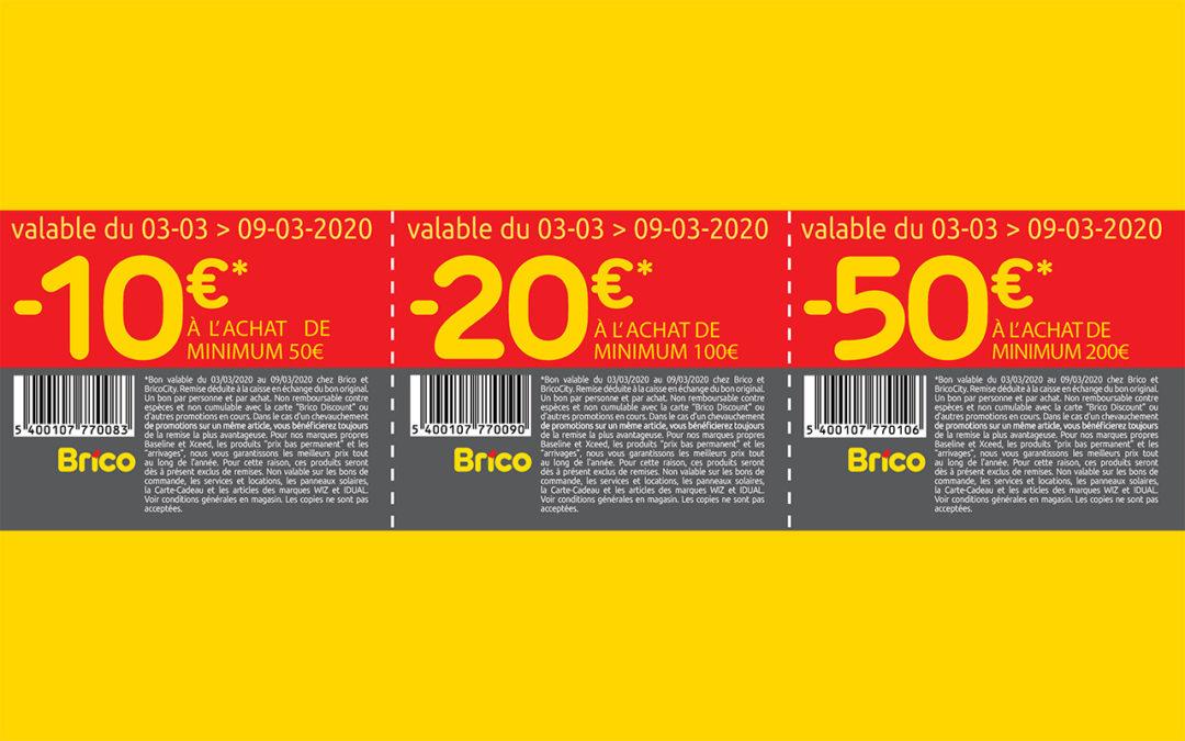 Bons de réduction -10€*, -20€* et -50€*