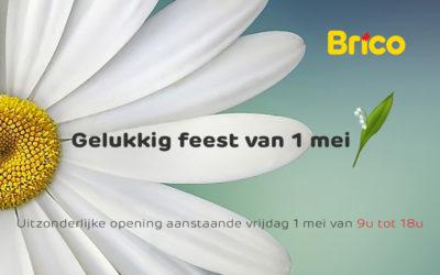 Uitzonderlijke opening op 1 mei