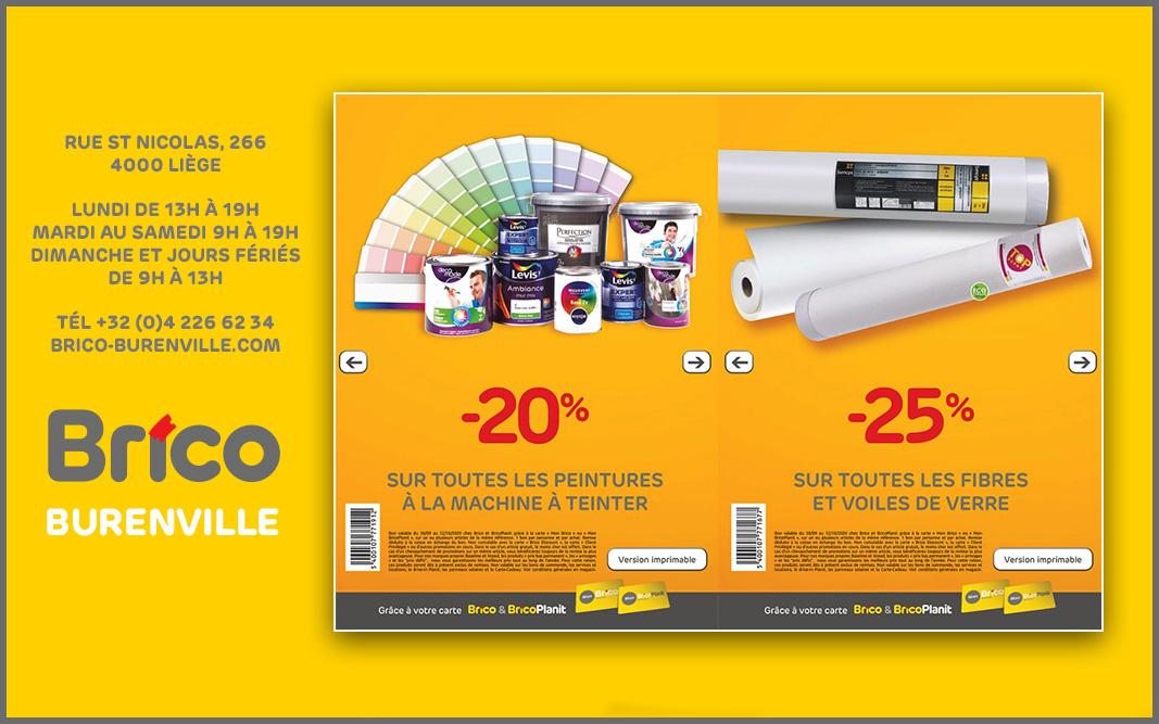 râce à votre carte 'Mon Brico', profitez de nos bons anniversaire ! -20 %* sur toutes les peintures à la machine à teinter.