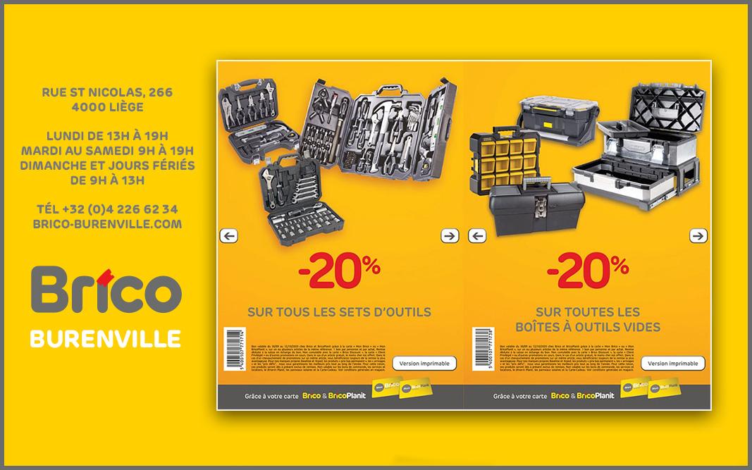 Bons -20%* sur tous les sets d'outils et boîtes à outils vides