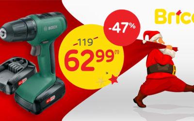 Profitez de notre promo – 47 %* sur la perceuse visseuse Bosch