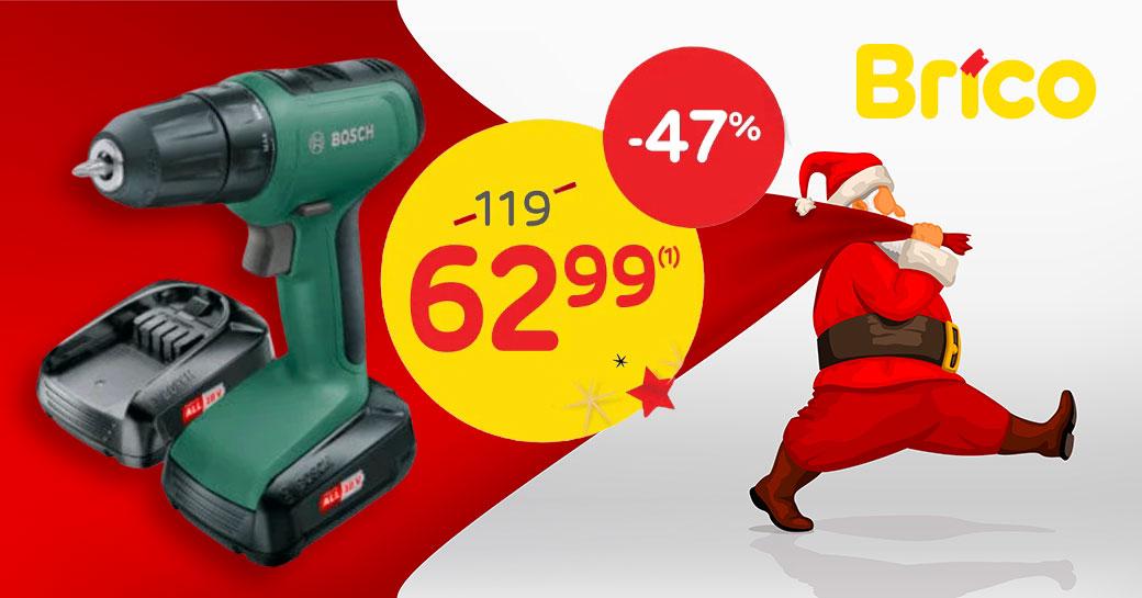 Profitez de notre promo - 47 %* sur la perceuse-visseuse Bosch UniversalDrill 18V.