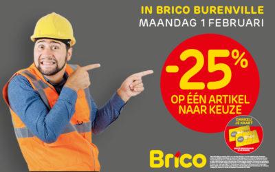 """Geniet dankzij uw """"Mon Brico"""" -kaart van -25%* op een artikel naar keuze."""