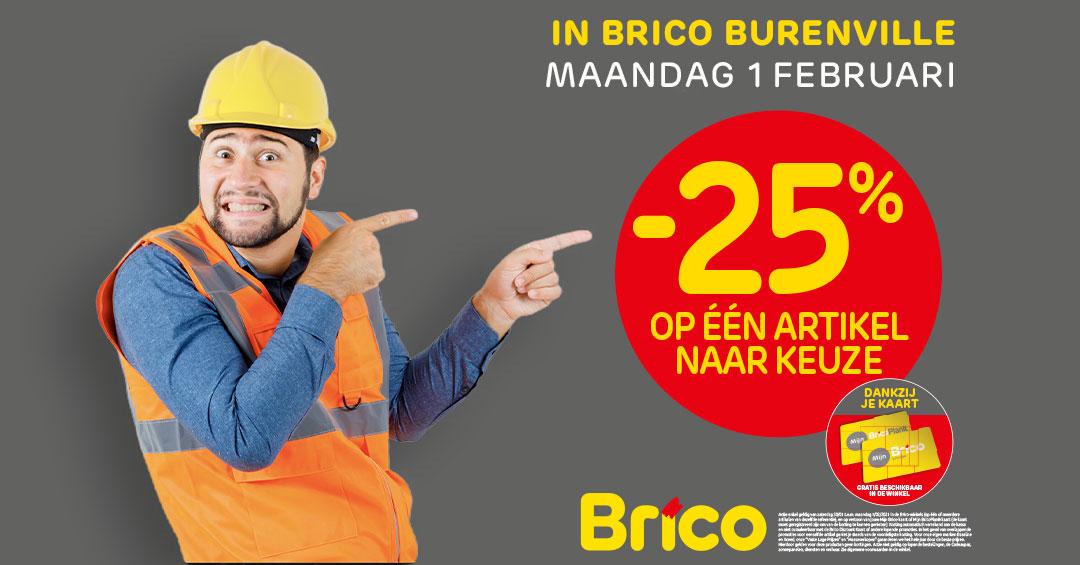 """Geniet dankzij uw """"Mon Brico"""" -kaart van -25% * op een artikel naar keuze."""
