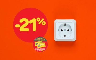 -21%* sur tout l'appareillage électrique