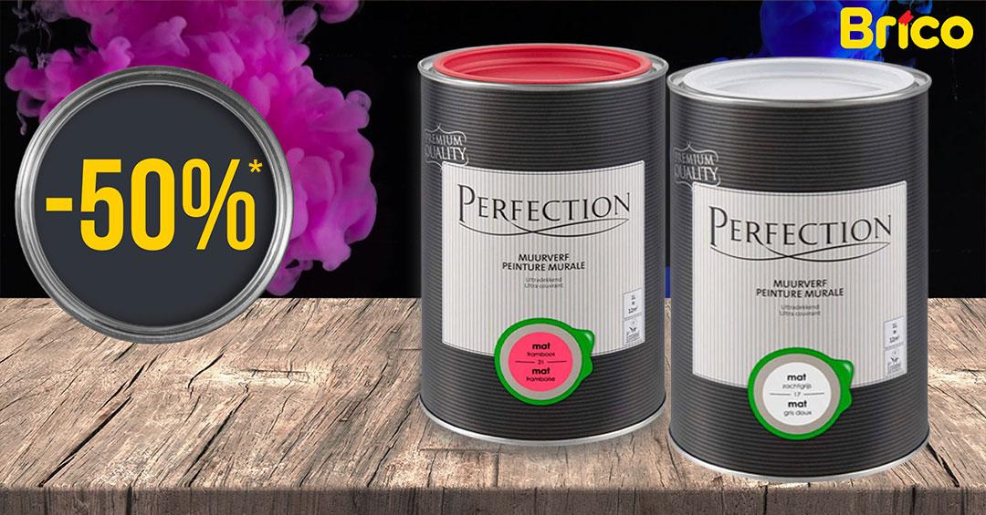 L'assortiment Peinture Murale de Perfection fait peau neuve ! Profitez maintenant de la liquidation sur l'ancien assortiment ! *