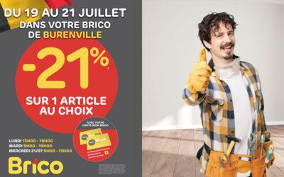 """-21%* sur un article au choix avecla carte """"Mon Brico"""""""
